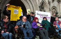 ILF-users at a protest outside the High Court