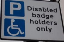 A blue badge parking sign