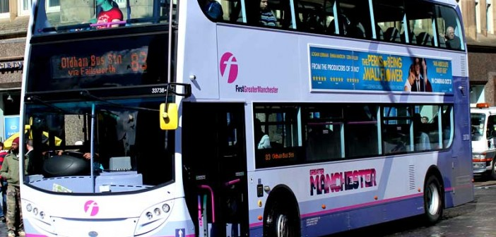 A First Group bus in Manchester