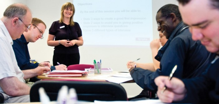 People taking part in Remploy training