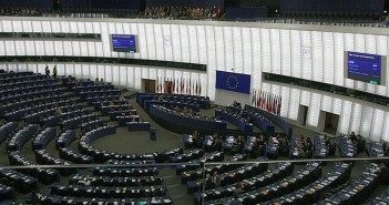 The debating chamber of the European parliament in Strasbourg