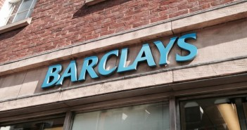 Outside of a branch of Barclays