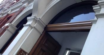 Doorway of building where Maximus is based in London