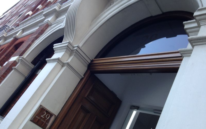 Doorway of building where Maximus is based in London