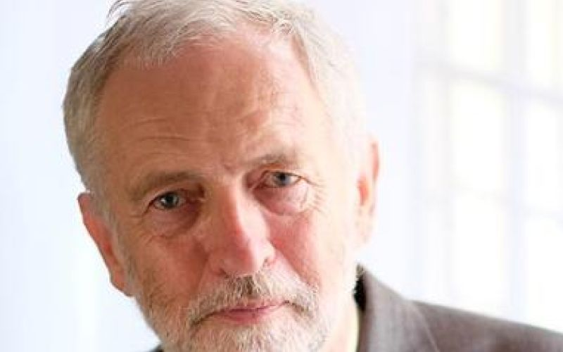 Head and shoulders of Jeremy Corbyn
