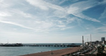 Brighton seafront, with pier in background