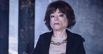 Liz Carr head and shoulders, as the character Clarissa Mullery