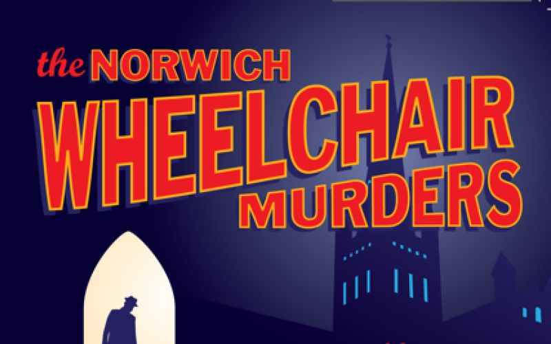 Part of front cover of The Norwich Wheelchair Murders
