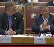 David Buxton and Terry Riley from the British Deaf Association giving evidence to peers