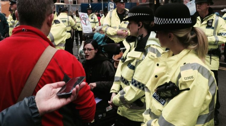 'Trench warfare' as DPAC protesters shame Tories outside their conference