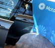 Motability logo beside an open car door