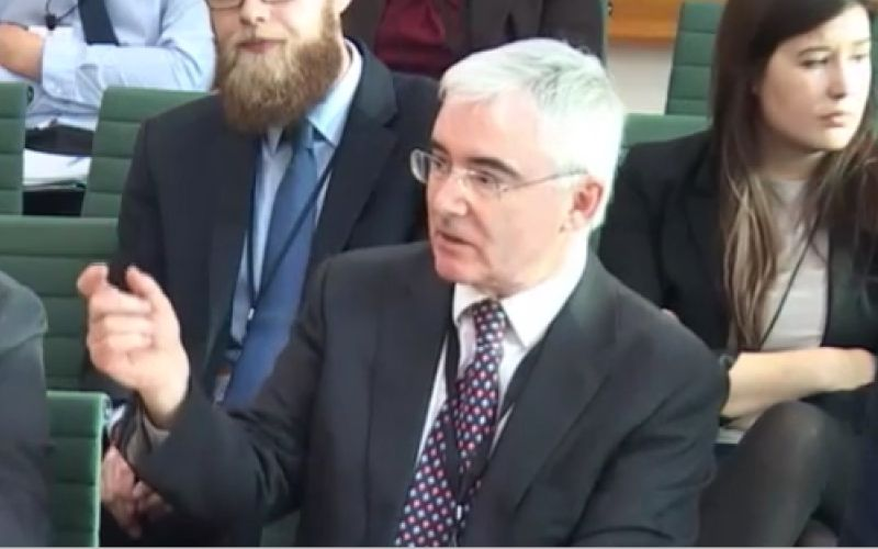 Lord Freud giving evidence to the committee