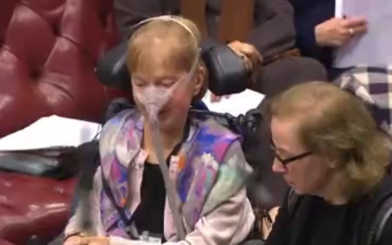 Baroness Campbell speaking in the House of Lords