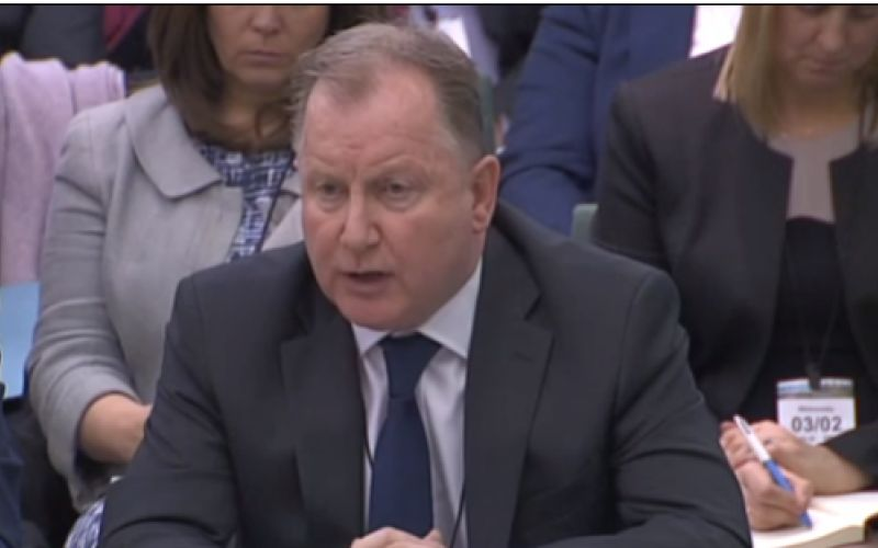 Chris Stroud giving evidence
