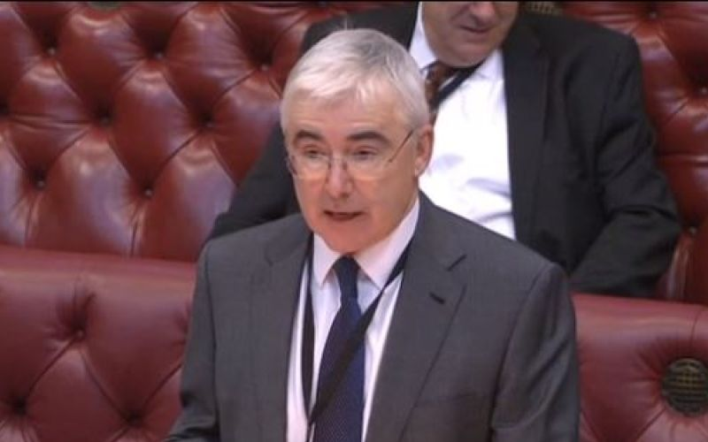 Lord Freud speaking in the House of Lords