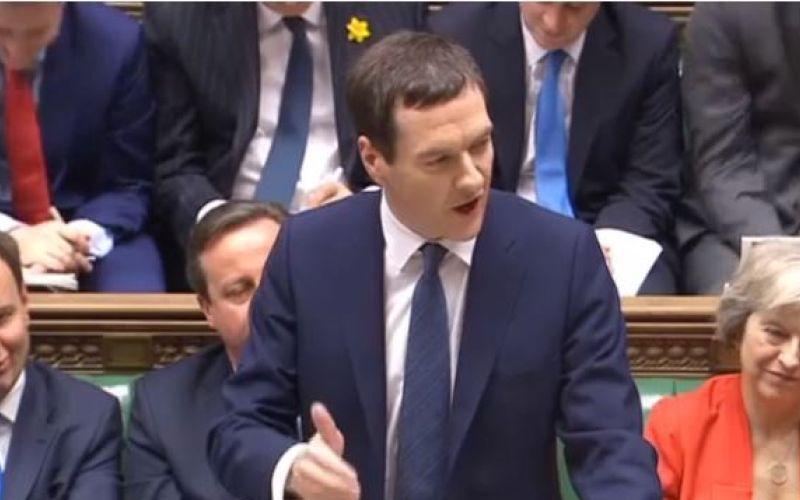 George Osborne delivering his budget speech