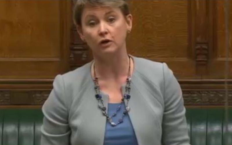 Yvette Cooper speaking in parliament