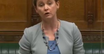 Yvette Cooper speaking in parliament