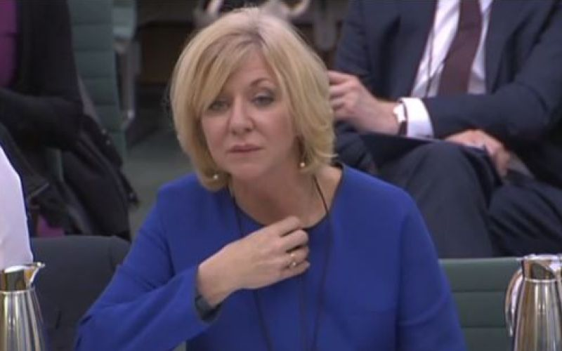 Leslie Wolfe giving evidence in parliament