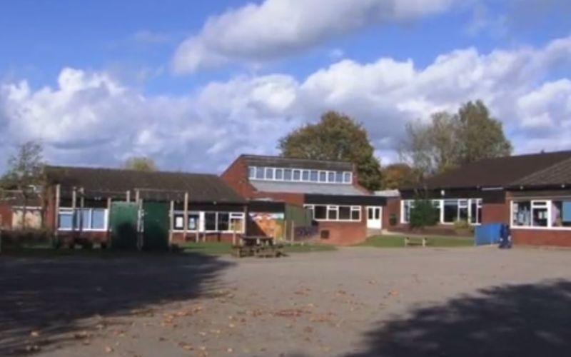 Nonsuch school buildings and playground