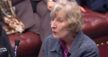 Baroness Thomas speaking in the House of Lords