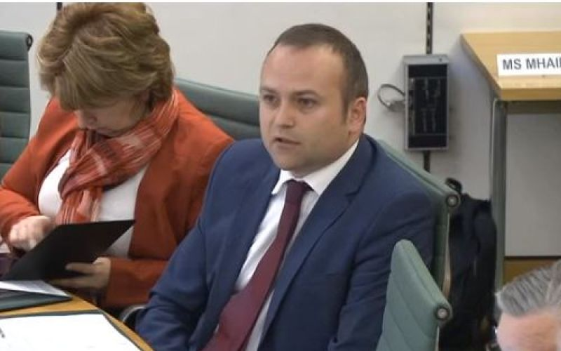 Neil Coyle speaking during a committee evidence session