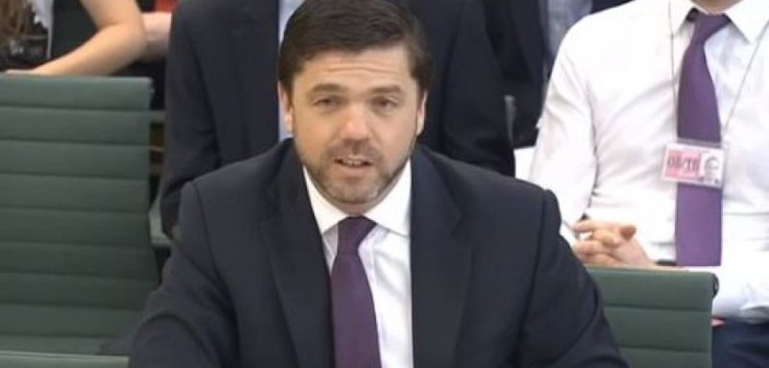 Stephen Crabb giving evidence to a Commons committee