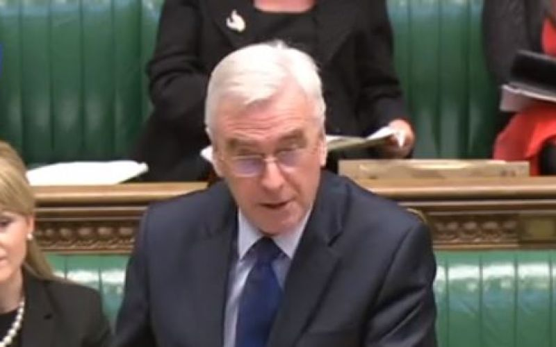 John McDonnell speaking in parliament