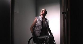 Ju Gosling sitting in her wheelchair