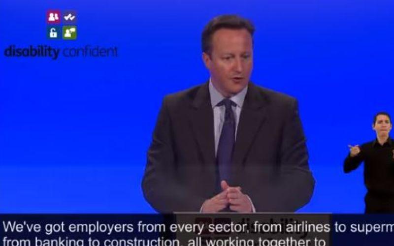 David Cameron launching Disability Confident