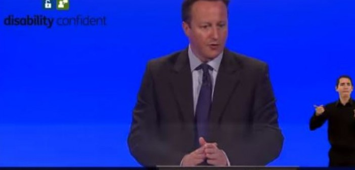 David Cameron launching Disability Confident