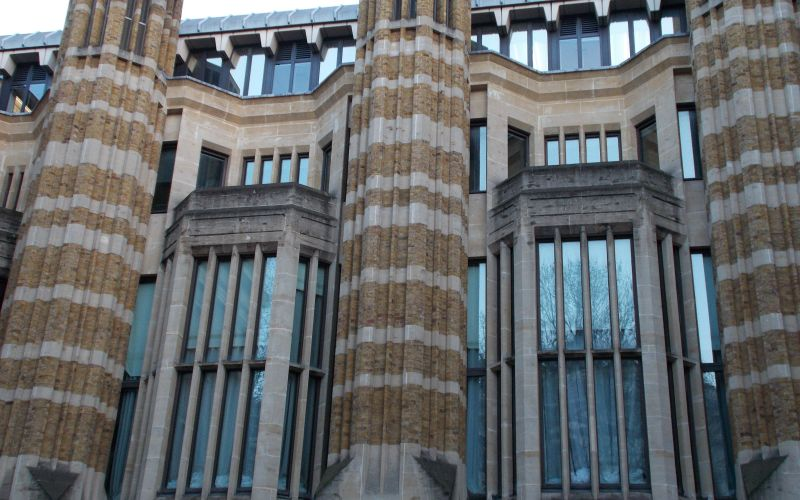 Long windows on the front of the Department of Health and Social Care offices in Whitehall