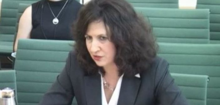 Jane Cordell giving evidence to the committee
