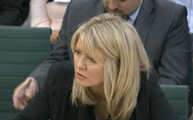 Esther McVey head and shoulders