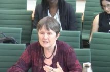 Liz Sayce giving evidence to a parliamentary committee
