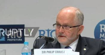 Sir Philip Craven speaking into a microphone