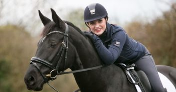 Natasha Baker on her horse