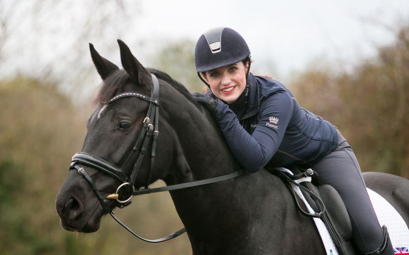 Natasha Baker on her horse