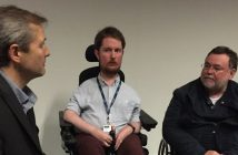 DNS editor John Pring talking to Miro Griffiths and Dr Paul Darke
