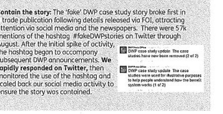 DWP forced to release reports revealing its secret thoughts on the media