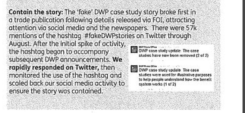 An extract from one of the reports