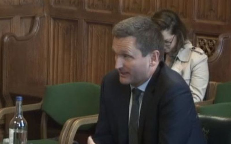 Lord Holmes speaking to a parliamentary committee