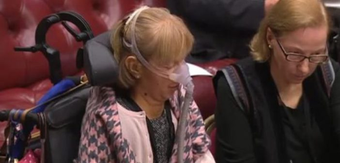Baroness Campbell speaking in the debate