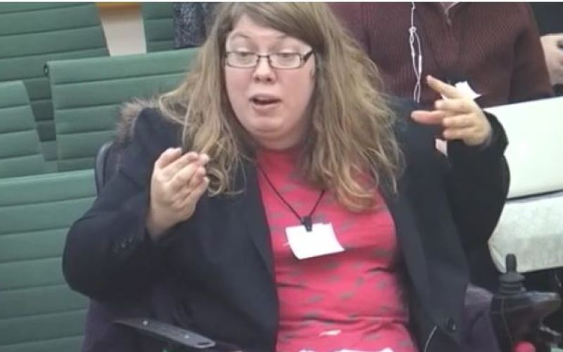 Zara Todd giving evidence to the committee