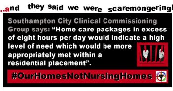A DPAC meme which quotes from the policy document and says 'and they said we were scaremongering...'