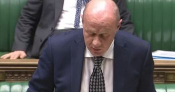 Damian Green speaking to MPs
