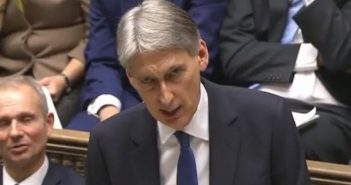 Philip Hammond delivering the autumn statement in the Commons