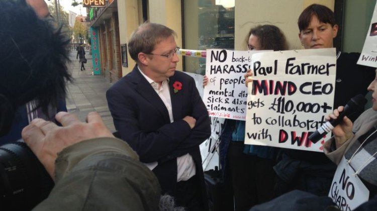 Mind boss lies to protesters over DWP contracts