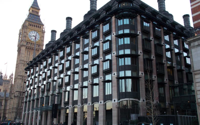 Outside view of Portcullis House, Westminster