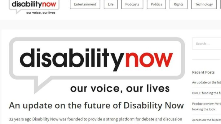 Scope's decision to close Disability Now 'is a tragedy'